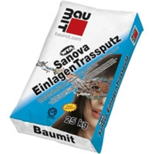 Baumit Sanova Egyrétegű trassz vakolat, fehér 25 kg