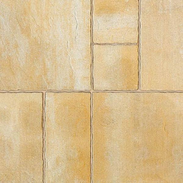 Semmelrock Suprema, kombi Térkő melírozott sárga-mészkőfehér 6 cm