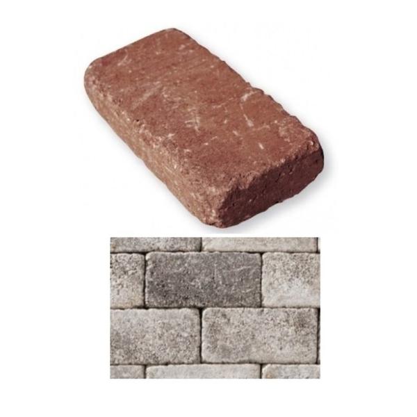 Leier Patio Térkő és falazóelem carbon melírozott 25x12,4 cm 5 cm