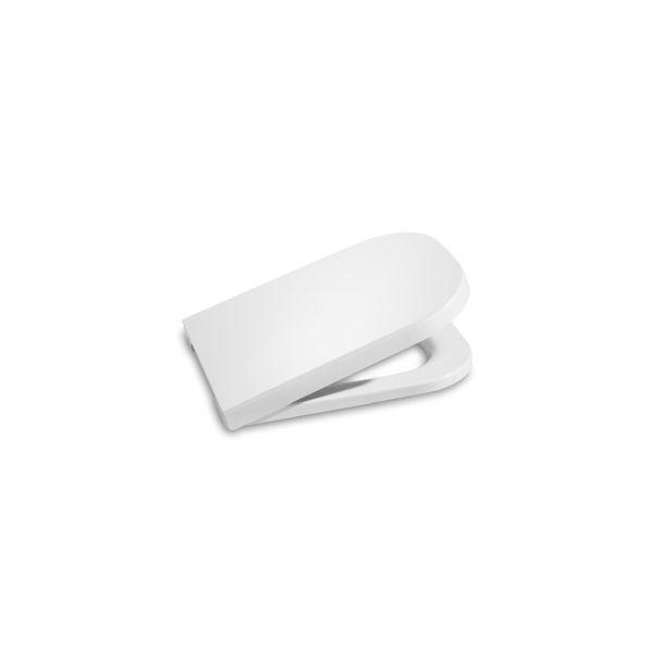 Roca The Gap WC ülőke fedéllel krómozott zsanérokkal fehér