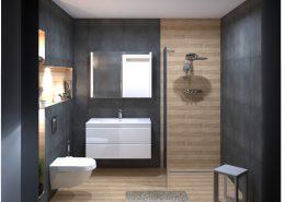 Fürdőszoba Látványterv Saime Alpi és Marca Corona Street burkolatokkal