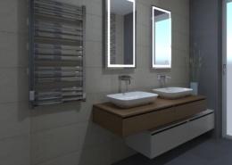 3D látványterv Fap Milano és Meltin burkolattal