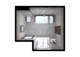 3D látványterv Fap Milano burkolattal