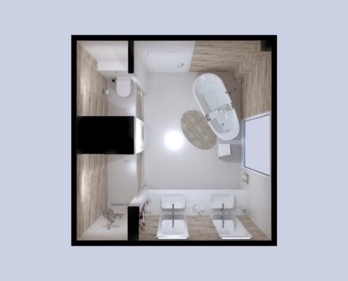 3D látványterv Imola The Room burkolattal